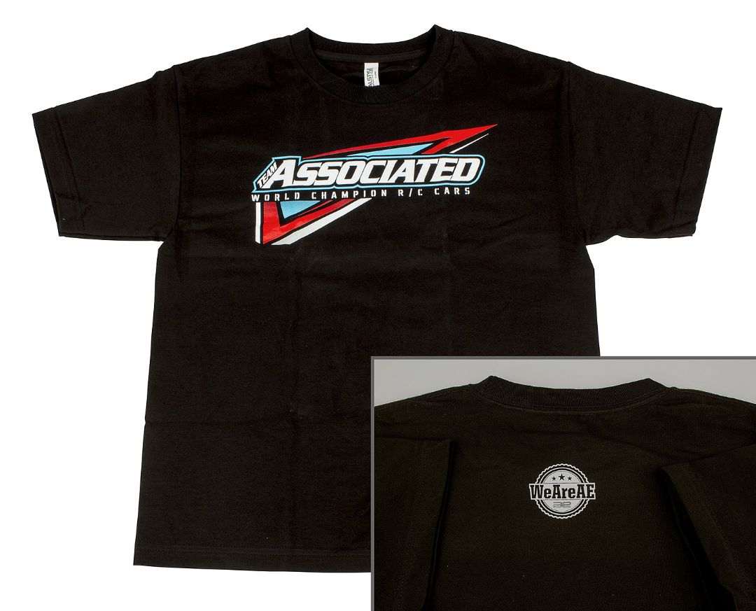 Team Associated Youth Tri T-Shirt, black, M