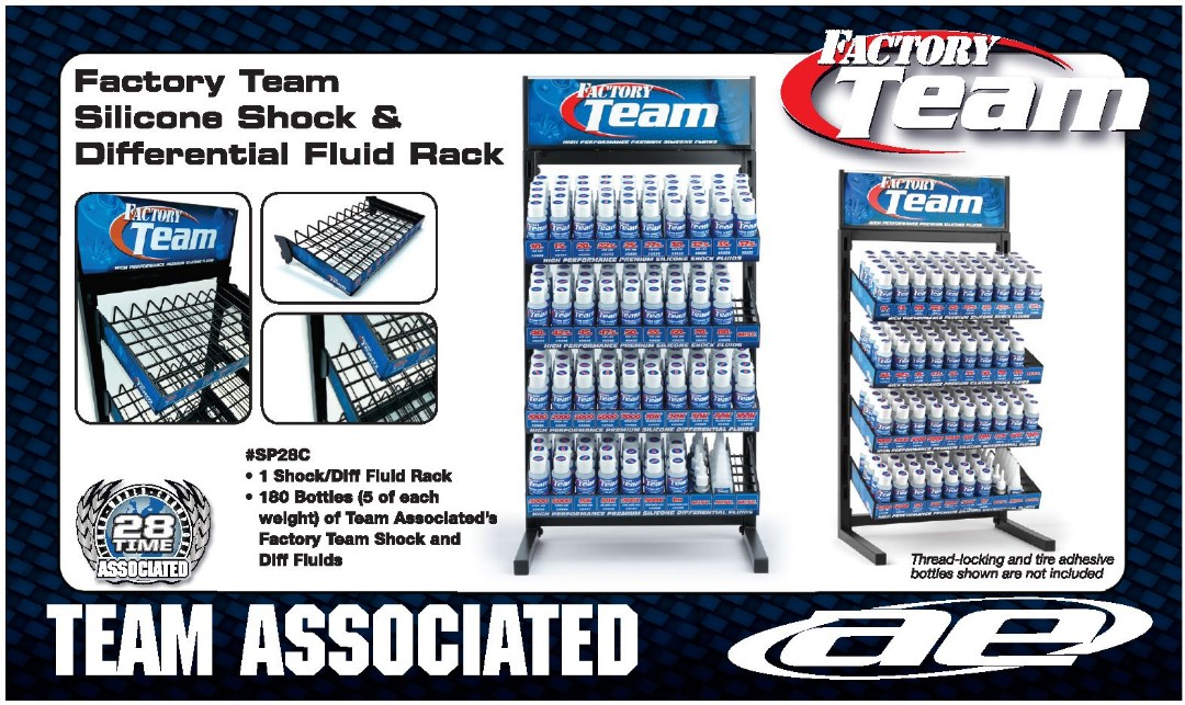 Team Associated Shock/Diff Fluid Rack with Oil