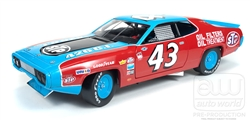 Auto World 1/18 Stock car 1972 Plymouth Roadrunner Richard petty