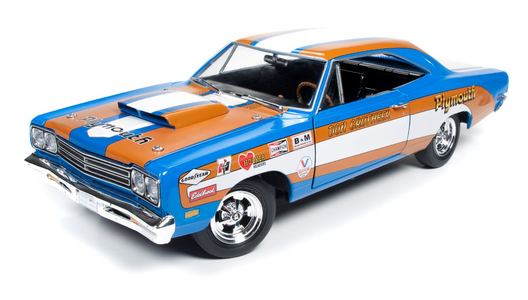 Auto World 1/18 1969 Plymouth Roadrunner Hardtop Don Grotheer