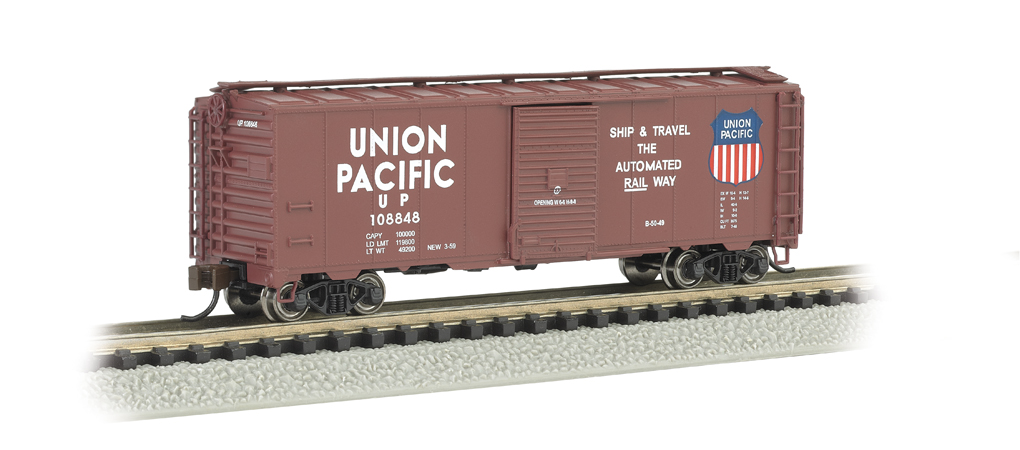 Bachmann Union Pacific - Automated Railway (Brown) - AAR 40' Ste