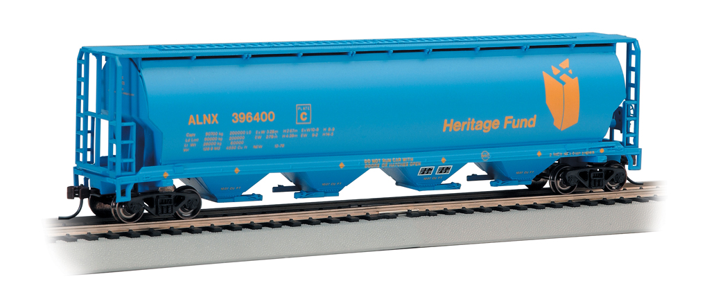 Bachmann Heritage Fund - 4 Bay Cylindrical Grain Hopper