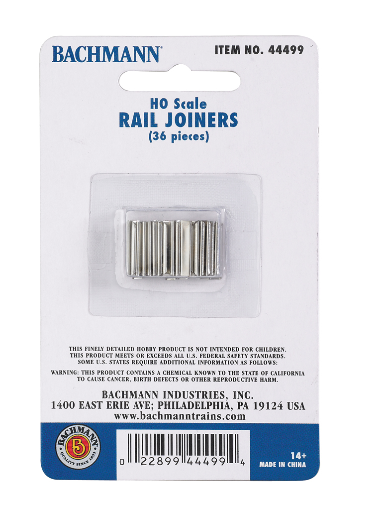 Bachmann Rail Joiners HO Scale -1 card w/ 12 packs of 36 joiners