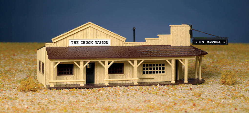 Bachmann Marshal's Office And Restaurant - Plasticville USA Buil