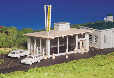 Bachmann Drive-In Hamburger Stand - Plasticville USA Building (H