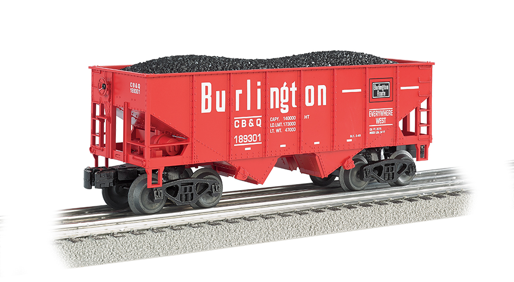 Bachmann Williams Burlington - Red - 55-Ton 2-Bay USRA Outside B