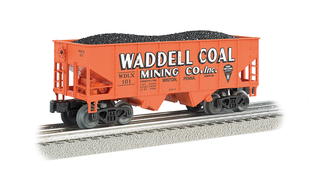 Bachmann Williams Waddell Coal - 55-Ton 2-Bay USRA Outside Brace