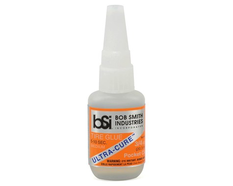 Bob Smith Industries Ultra-Cure Medium CA Tire Glue w/Pin Cap