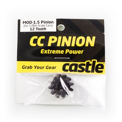 Castle Creations CC Pinion 12T-Mod 1.5 Hardened Steel
