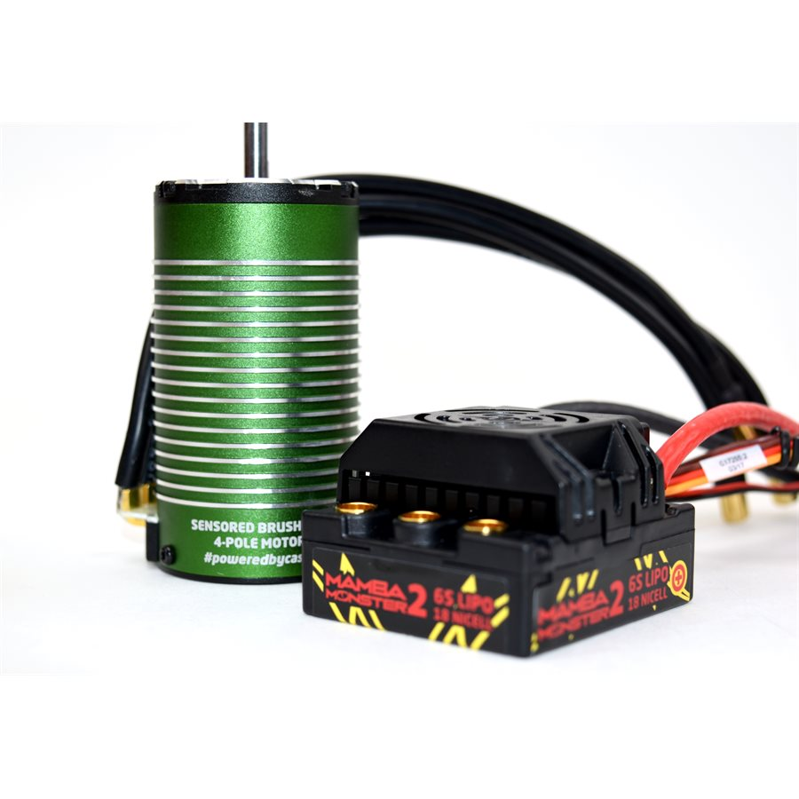 Castle Monster 2 1/8th 25V ESC Waterproof W/ 2200kv Sensored Mot