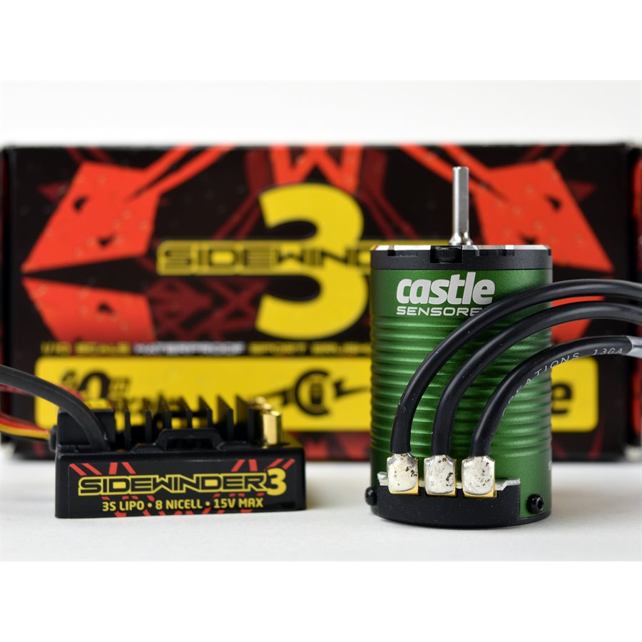 Castle Creations SV3 ESC with Sensored 1406-4600 Combo