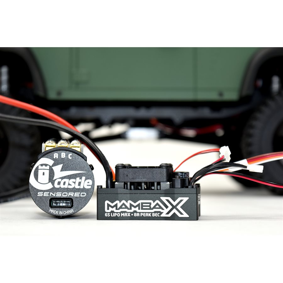 Castle Creations Mamba X, 25.2v WP ESC And 1406-3800KV Sensored