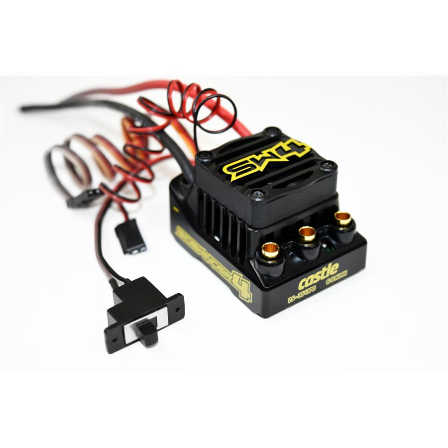 Castle SW4, 12.6v, 2a BEC, Waterproof Sensorless ESC
