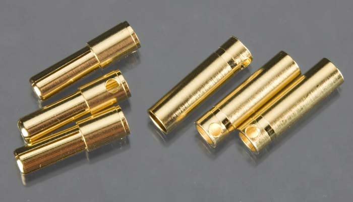 Castle Creations 4mm High Current Bullet Connector Set (3ea)