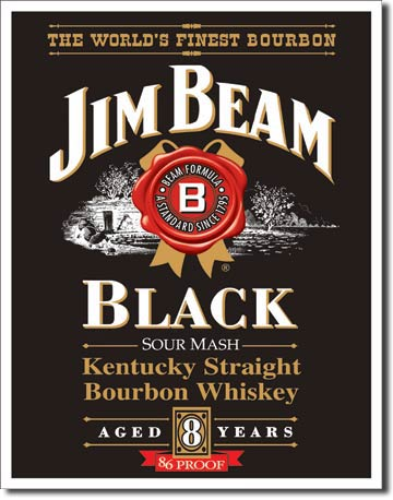 Jim Beam Black - Rectangular Tin Sign