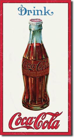 Drink Coca-Cola - Rectangular Tin Sign