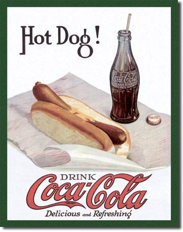 Drink Coca-Cola, Delicious and Refreshing - Rectangular Tin Sign
