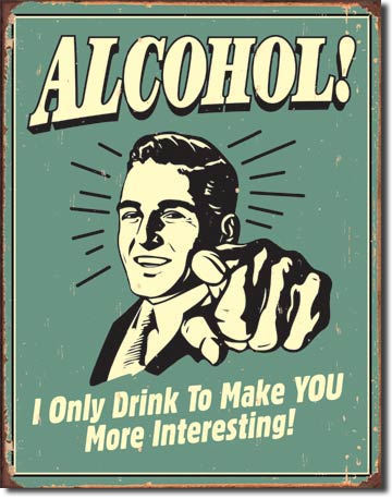 Alcohol - Rectangular Tin Sign