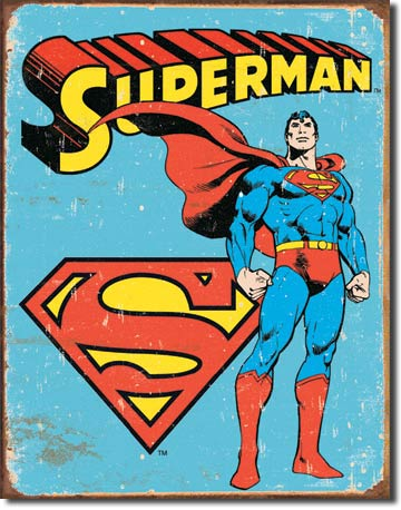 Superman - Rectangular Tin Sign