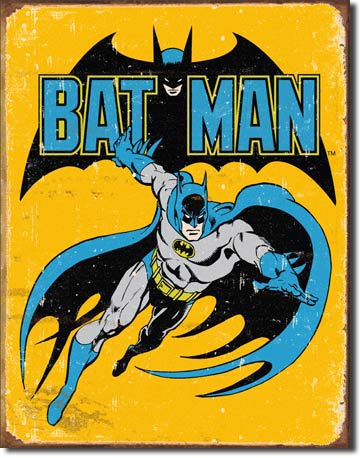 Batman Retro - Rectangular Tin Sign