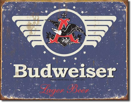 Budweiser 1936 Logo - Rectangular Tin Sign