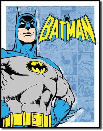 Batman Retro Panels - Rectangular Tin Sign