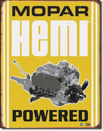 Mopar Hemi Powered - Rectangular Tin Sign