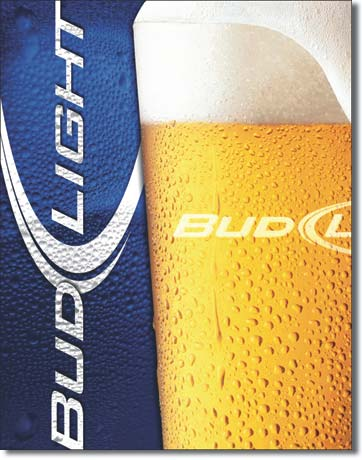Bud Light - Rectangular Tin Sign