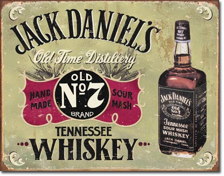 Jack Daniels Old Time Distillery - Rectangular Tin Sign