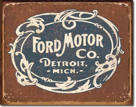 Ford Motor Co. - Rectangular Tin Sign