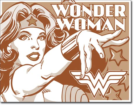Wonder Woman - Rectangular Tin Sign