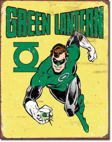Green Lantern - Rectangular Tin Sign