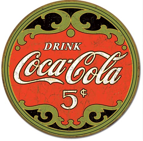 Drink Coca-Cola - Round Tin Sign