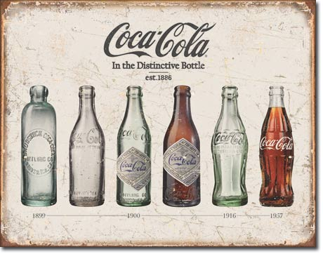 Coca-Cola in the Distinctive Bottle - Rectangular Tin Sign