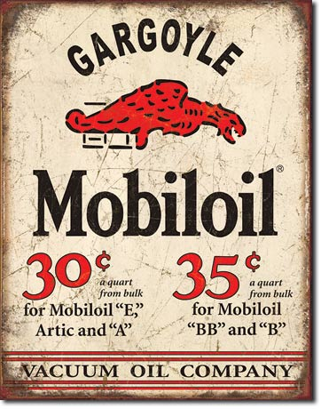 Gargoyle Mobiloil Vacuum Oil Company - Rectangular Tin Sign