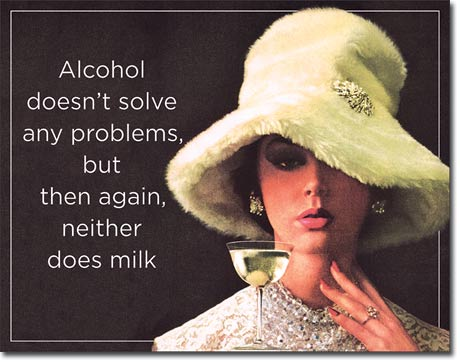 Alcohol Doesn't Solve Any Problems - Rectangular Tin Sign