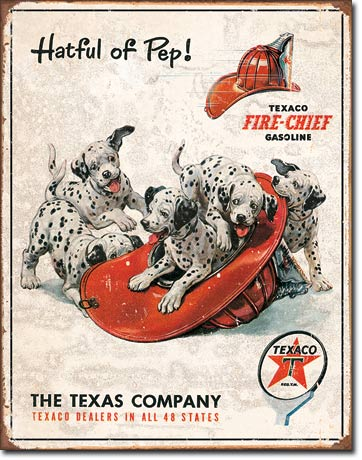Texaco Fire-Chief Gasoline - Rectangular Tin Sign