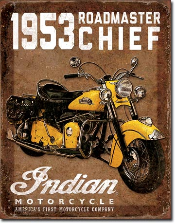 Indian Motorcycle - Rectangular Tin Sign