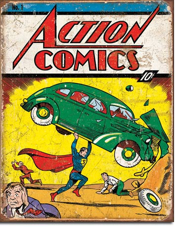 Action Comics - Rectangular Tin Sign