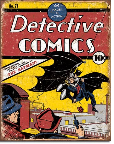 Detective Comics The Batman - Rectangular Tin Sign