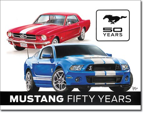 Mustang Fifty Years - Rectangular Tin Sign
