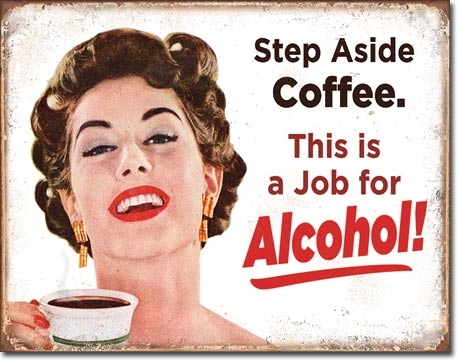 Step Aside Coffee - Rectangular Tin Sign