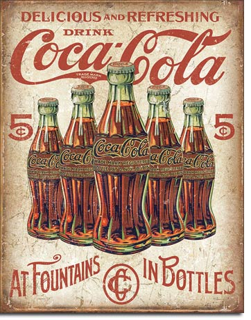 Delicious and Refreshing Drink Coca-Cola - Rectangular Tin Sign