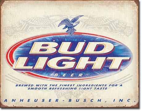 Bud Light Retro - Rectangular Tin Sign