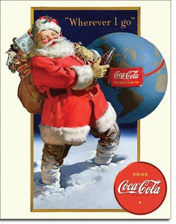 "Drink Coca-Cola ""Wherever I Go"" - Rectangular Tin Sign"