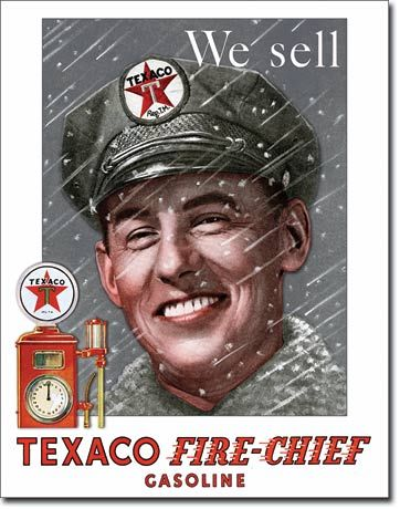 We Sell Texaco Fire-Chief Gasoline - Rectangular Tin Sign