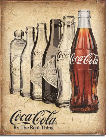 Coca-Cola It's The Real Thing - Rectangular Tin Sign