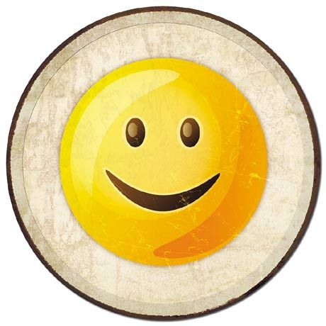 Smiling Emoji - Round Tin Sign