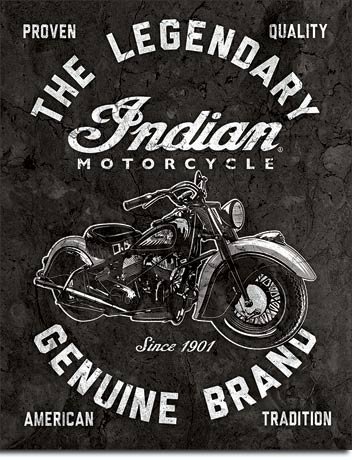 Indian Motorcycles - Legendary - Rectangular Tin Sign
