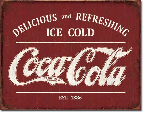 Coca-Cola Est 1886 - Rectangular Tin Sign